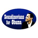 Scandanavians for Obama bumper sticker