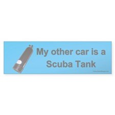 My other car is a Scuba Tank bumper sticker.