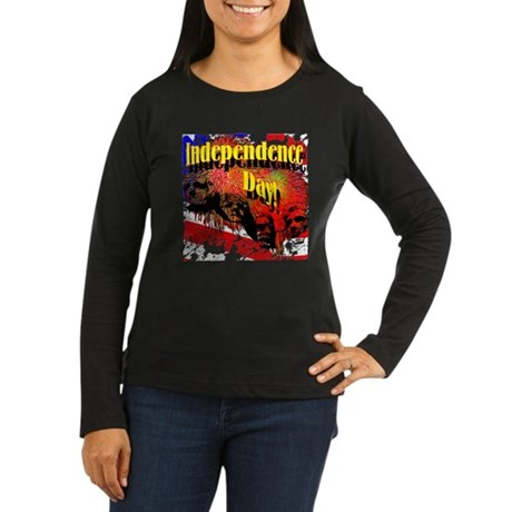 Independence Day Women's Long Sleeve Dark T-Shirt