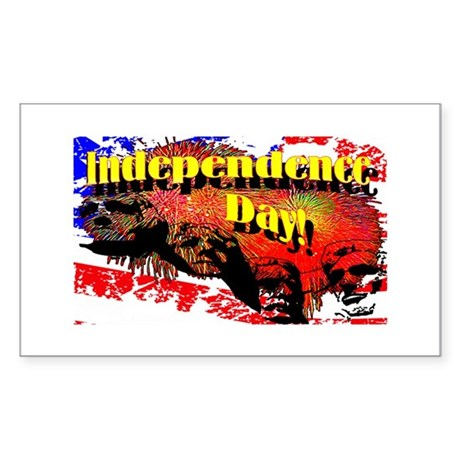 Independence Day Rectangle Sticker 10 pk)