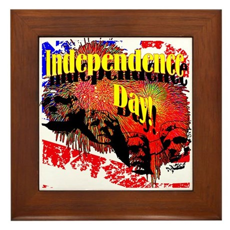 Independence Day Framed Tile