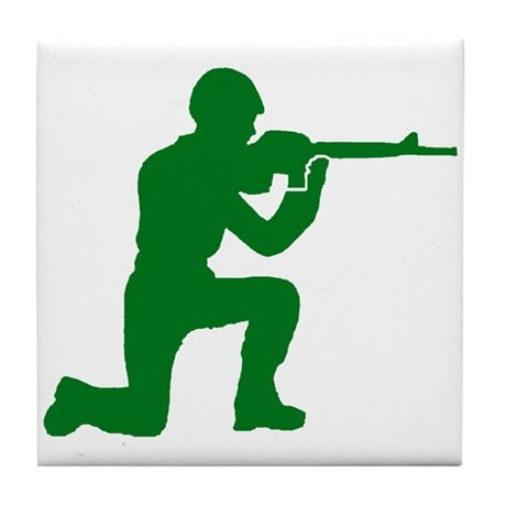 Kneeling Toy Soldier Tile Coaster