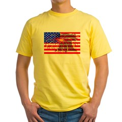 4th of July Independence Yellow T-Shirt