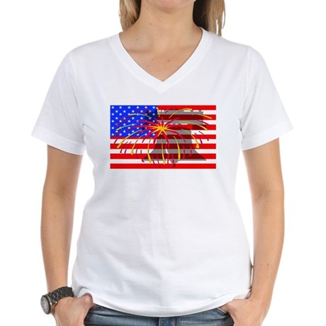 4th of July Independence Women's V-Neck T-Shirt