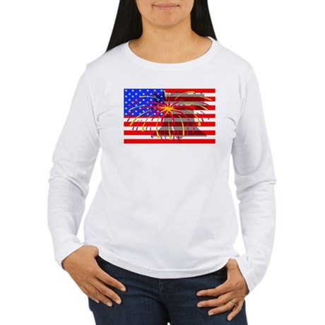4th of July Independence Women's Long Sleeve T-Shi