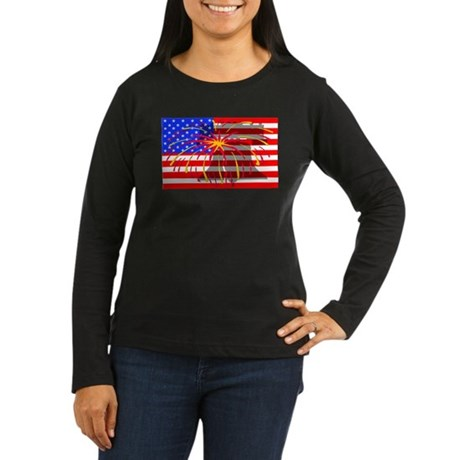 4th of July Independence Women's Long Sleeve Dark