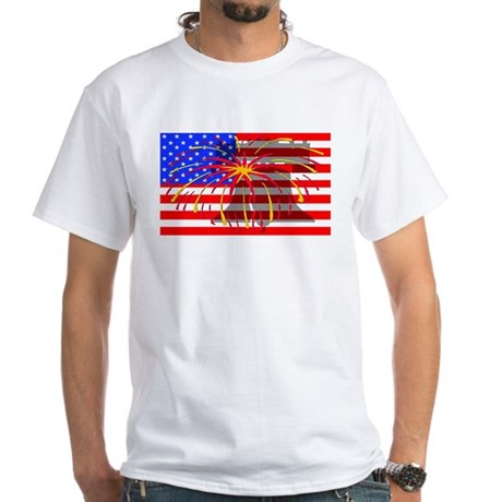 4th of July Independence White T-Shirt