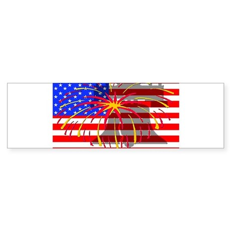 4th of July Independence Bumper Sticker
