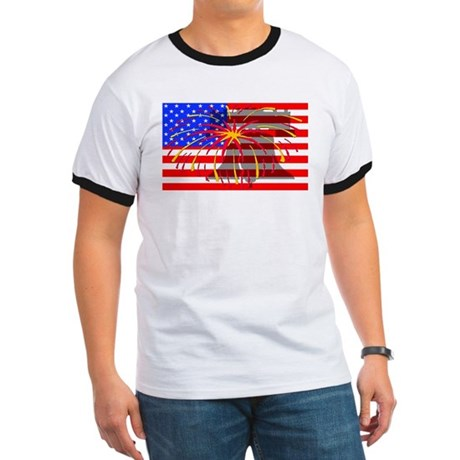 4th of July Independence Ringer T