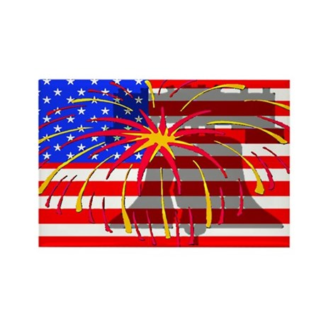 4th of July Independence Rectangle Magnet (10 pack