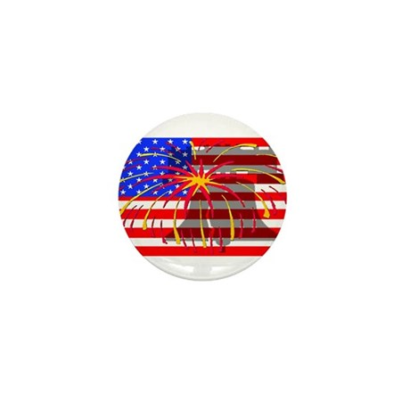 4th of July Independence Mini Button (100 pack)