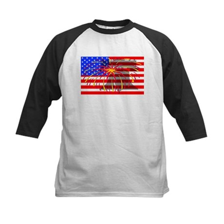 4th of July Independence Kids Baseball Jersey