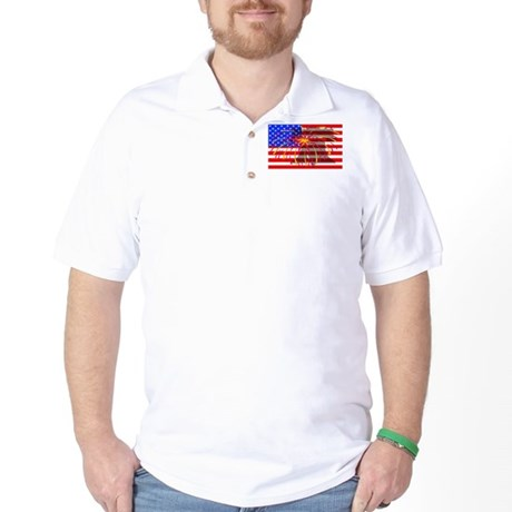 4th of July Independence Golf Shirt
