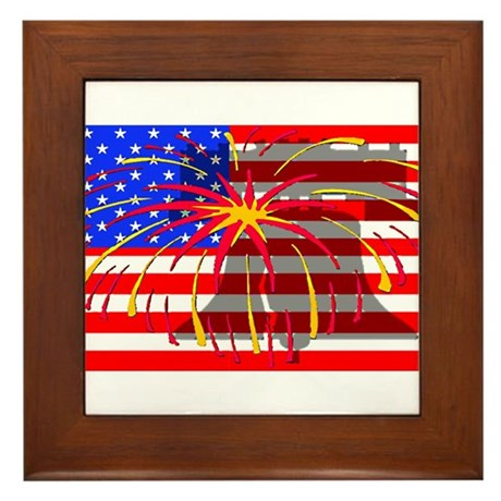 4th of July Independence Framed Tile