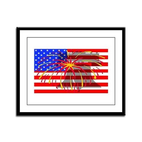 4th of July Independence Framed Panel Print