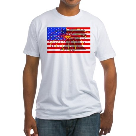 4th of July Independence Fitted T-Shirt