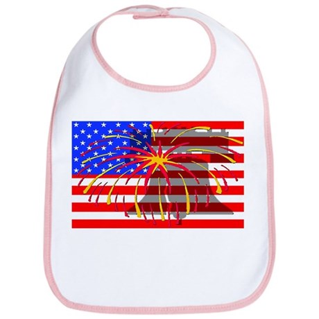 4th of July Independence Bib
