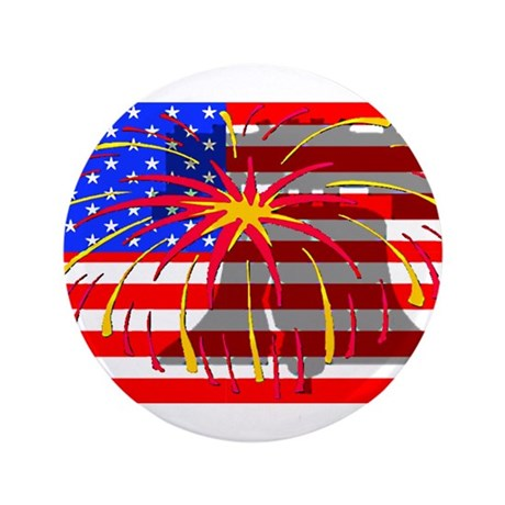 "4th of July Independence 3.5"" Button (100 pack)"