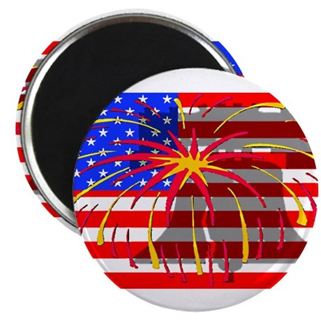 "4th of July Independence 2.25"" Magnet (100 pack)"