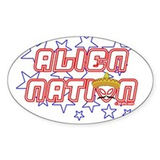 Alien Nation Oval Sticker (10 pk)