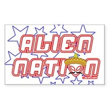 Alien Nation Rectangle Decal