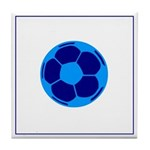 Blue Soccer Ball Tile Coaster