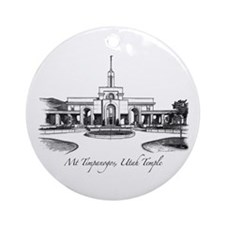Mt Timpanogos Temple Ornament (Round)
