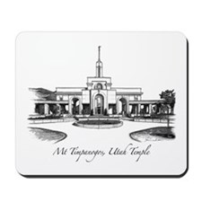 Mt Timpanogos Temple Mousepad