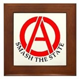 Smash the State Framed Tile