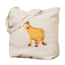Cow with Flower Tote Bag