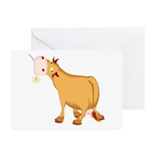 Cow with Flower Greeting Cards (Pk of 10)