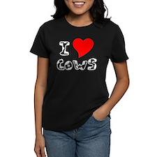 White I Heart Cows Tee