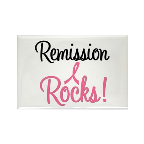 Remission Rocks Breast Cancer Rectangle Magnet