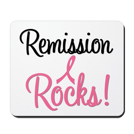 Remission Rocks Breast Cancer Mousepad