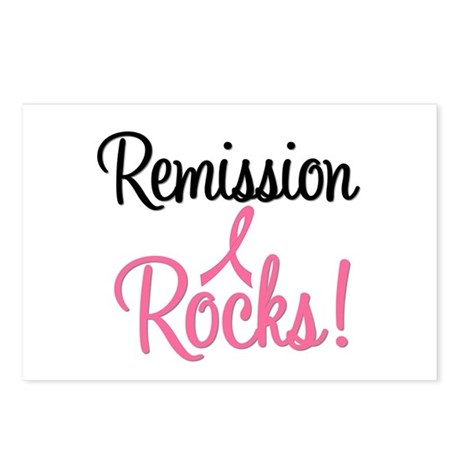 Remission Rocks Breast Cancer Postcards (Package o