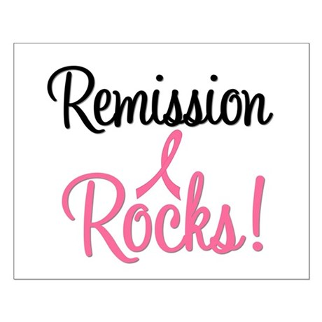 Remission Rocks Breast Cancer Small Poster