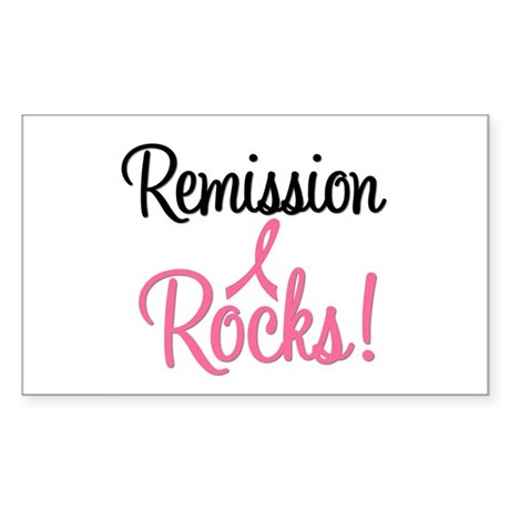 Remission Rocks Breast Cancer Rectangle Sticker