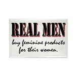 Real Men Buy Feminine Products Rectangle Magnet