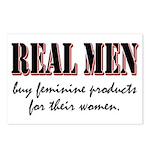 Real Men Buy Feminine Products Postcards (Package