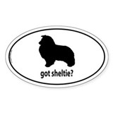 Got Sheltie? Oval Bumper Stickers