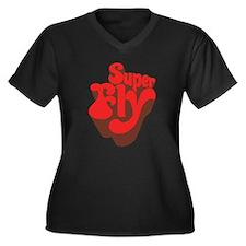 Superfly Women's Plus Size V-Neck Dark T-Shirt