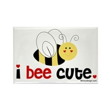 I Bee Cute Rectangle Magnet (10 pack)