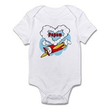 Love Papaw Cute Airplane Infant Bodysuit