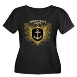 Proud Navy Aunt Women's Plus Size Scoop Neck Dark