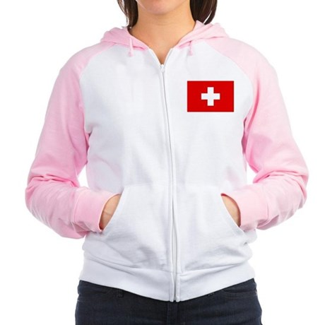 SWISS CROSS FLAG Women's Raglan Hoodie