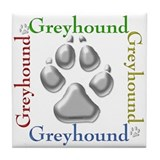 Greyhound Name2 Tile Coaster
