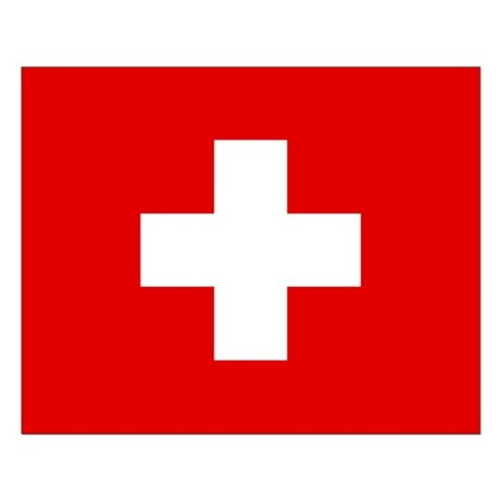 SWISS CROSS FLAG Small Poster