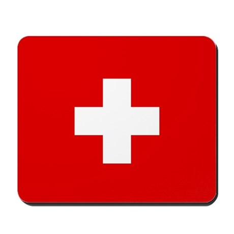 SWISS CROSS FLAG Mousepad