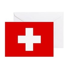 SWISS CROSS FLAG Greeting Cards (Pk of 10)