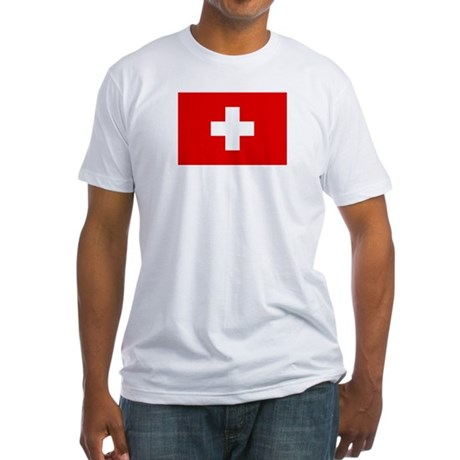 SWISS CROSS FLAG Fitted T-Shirt